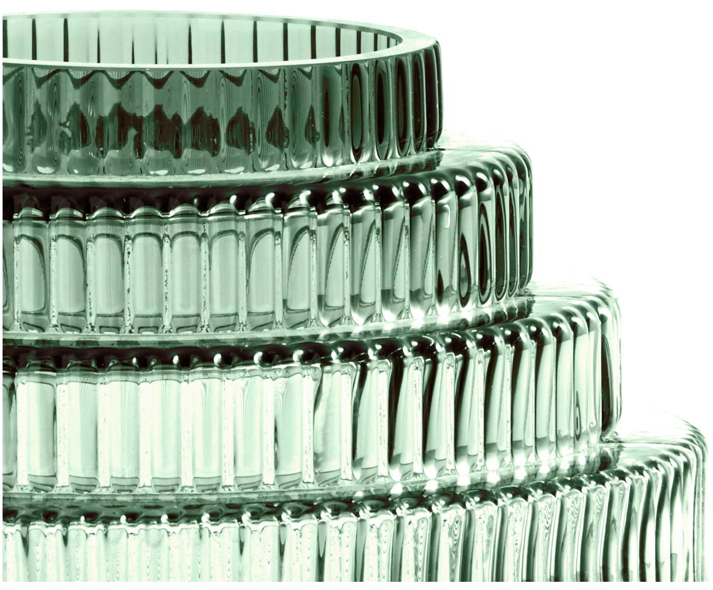 Wazon ze szkła Rilla, Szkło, Przód i tył: zielony, Ø 22 x W 24 cm
