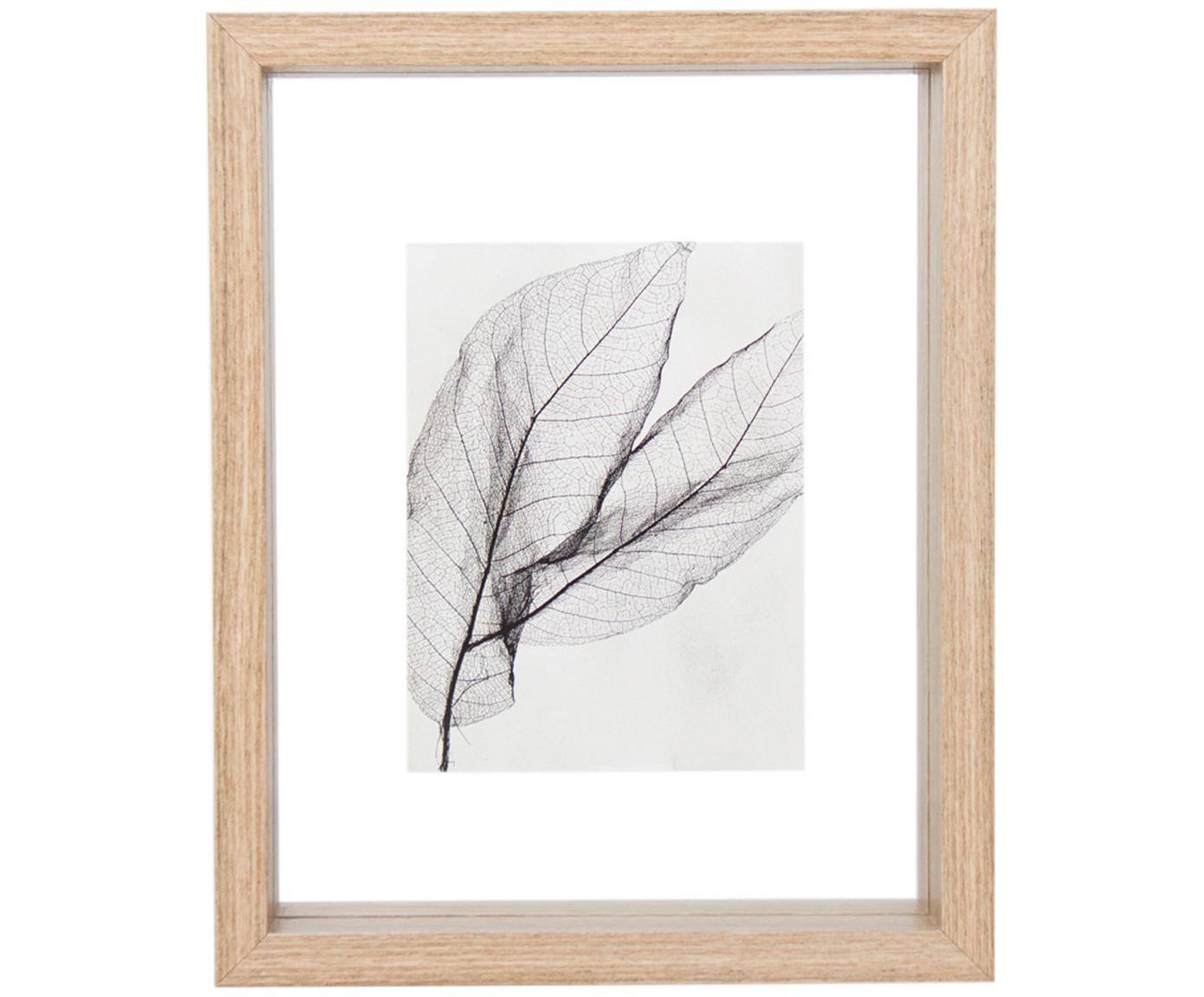 Bilderrahmen Look, Rahmen: Holz, Schwarz, Transparent, 15 x 20 cm