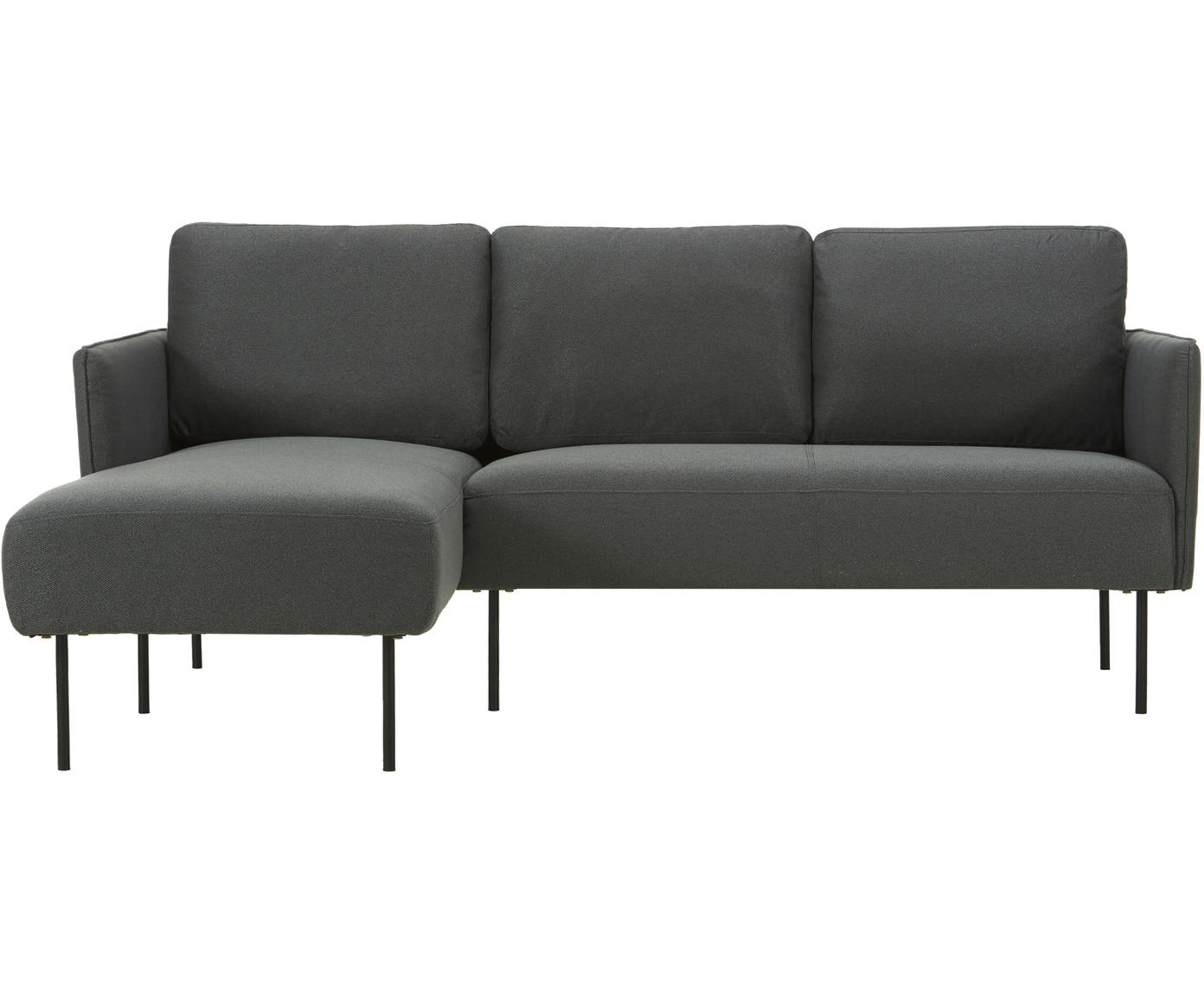 Ecksofa Ramira, Bezug: Polyester 20.000 Scheuert, Gestell: Massives Kiefernholz, Spe, Webstoff Anthrazit, B 192 x T 136 cm