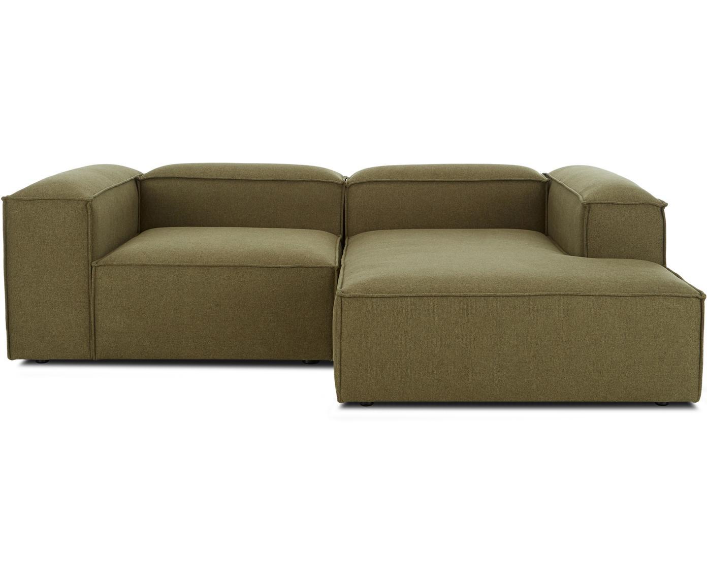 Sofa modułowa narożna Lennon, Tapicerka: poliester 35 000 cykli w , Stelaż: lite drewno sosnowe, skle, Nogi: tworzywo sztuczne, Zielony, S 238 x G 180 cm