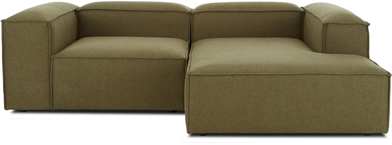 Modulaire hoekbank Lennon, Bekleding: polyester, Frame: massief grenenhout, multi, Poten: kunststof, Geweven stof groen, B 238 x D 180 cm