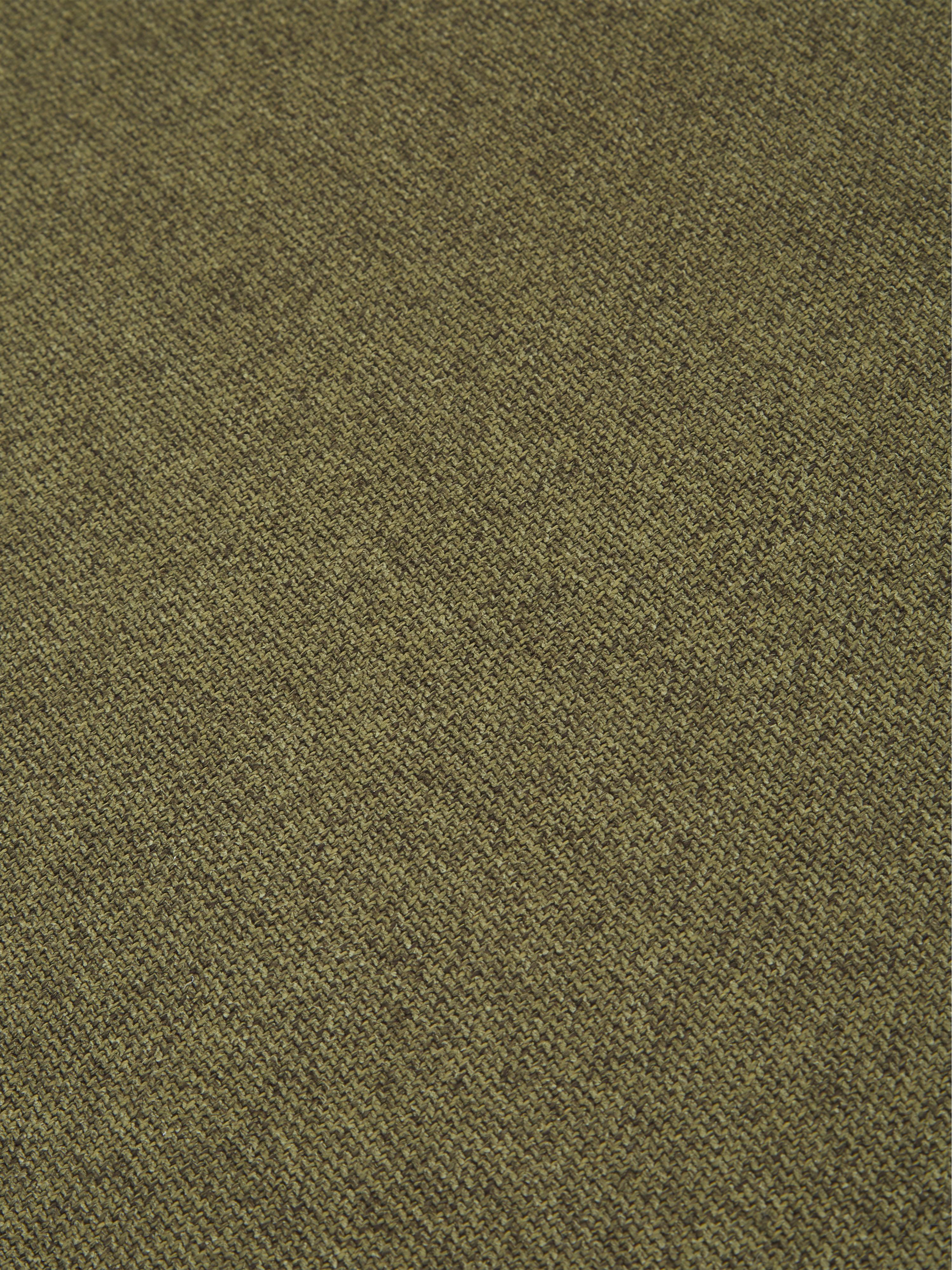 Modulares Ecksofa Lennon, Bezug: Polyester 35.000 Scheuert, Gestell: Massives Kiefernholz, Spe, Füße: Kunststoff, Webstoff Grün, B 238 x T 180 cm