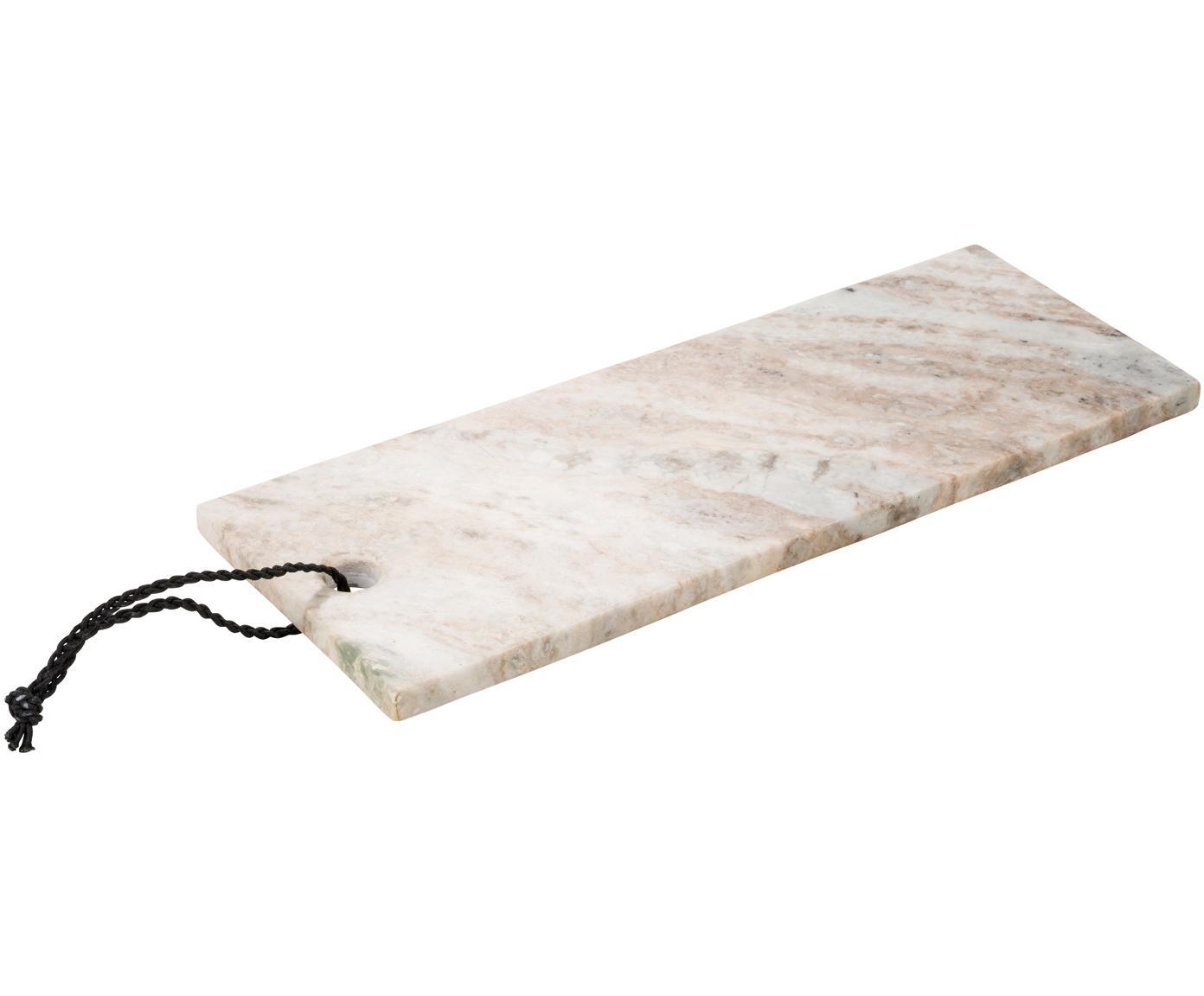 Marmeren snijplank Torrant, Marmer, Beigetinten, wit, B 40 x D 15 cm