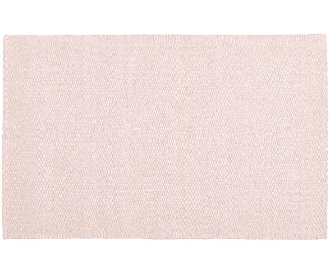 Dünner Baumwollteppich Agneta, handgewebt, 100% Baumwolle, Rosa, B 50 x L 80 cm (Größe XXS)