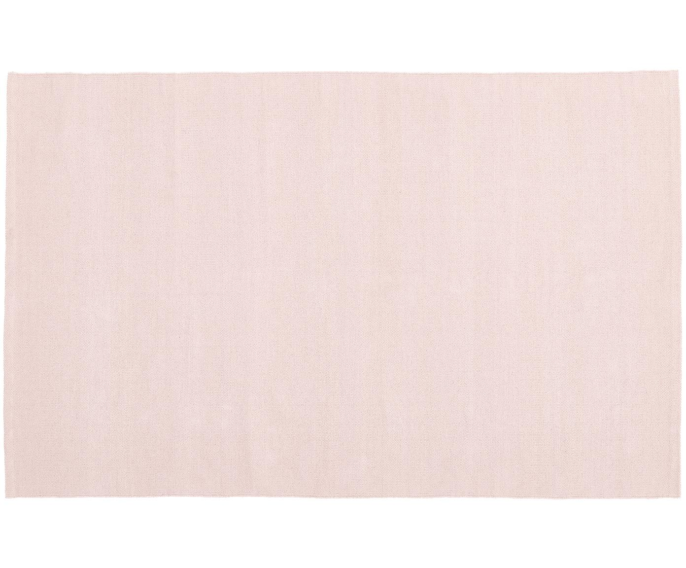 Handgeweven katoenen vloerkleed Agneta, Katoen, Roze, B 50 x L 80 cm (maat XXS)