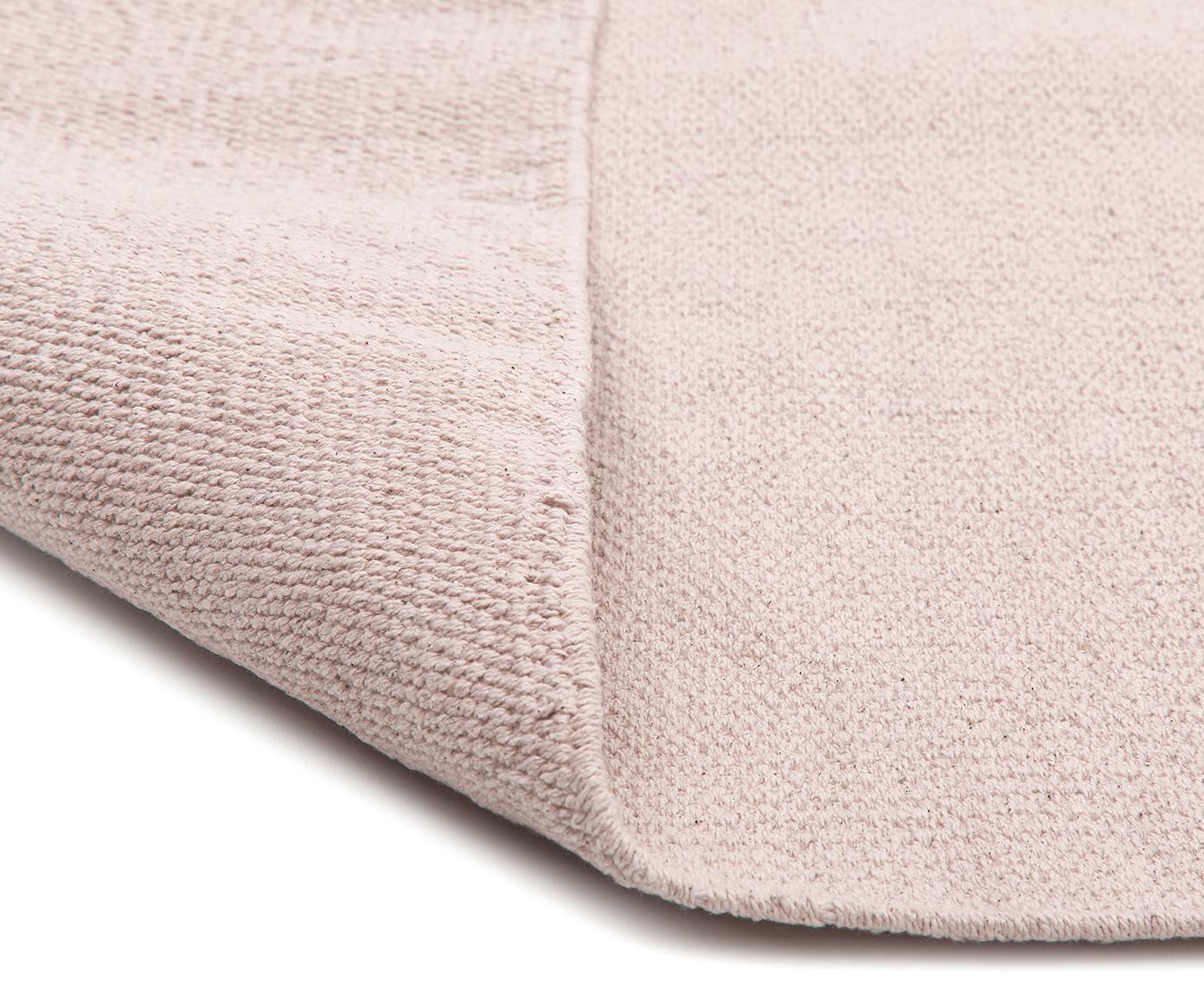 Ručně tkaný bavlněný koberec Agneta, Růžová