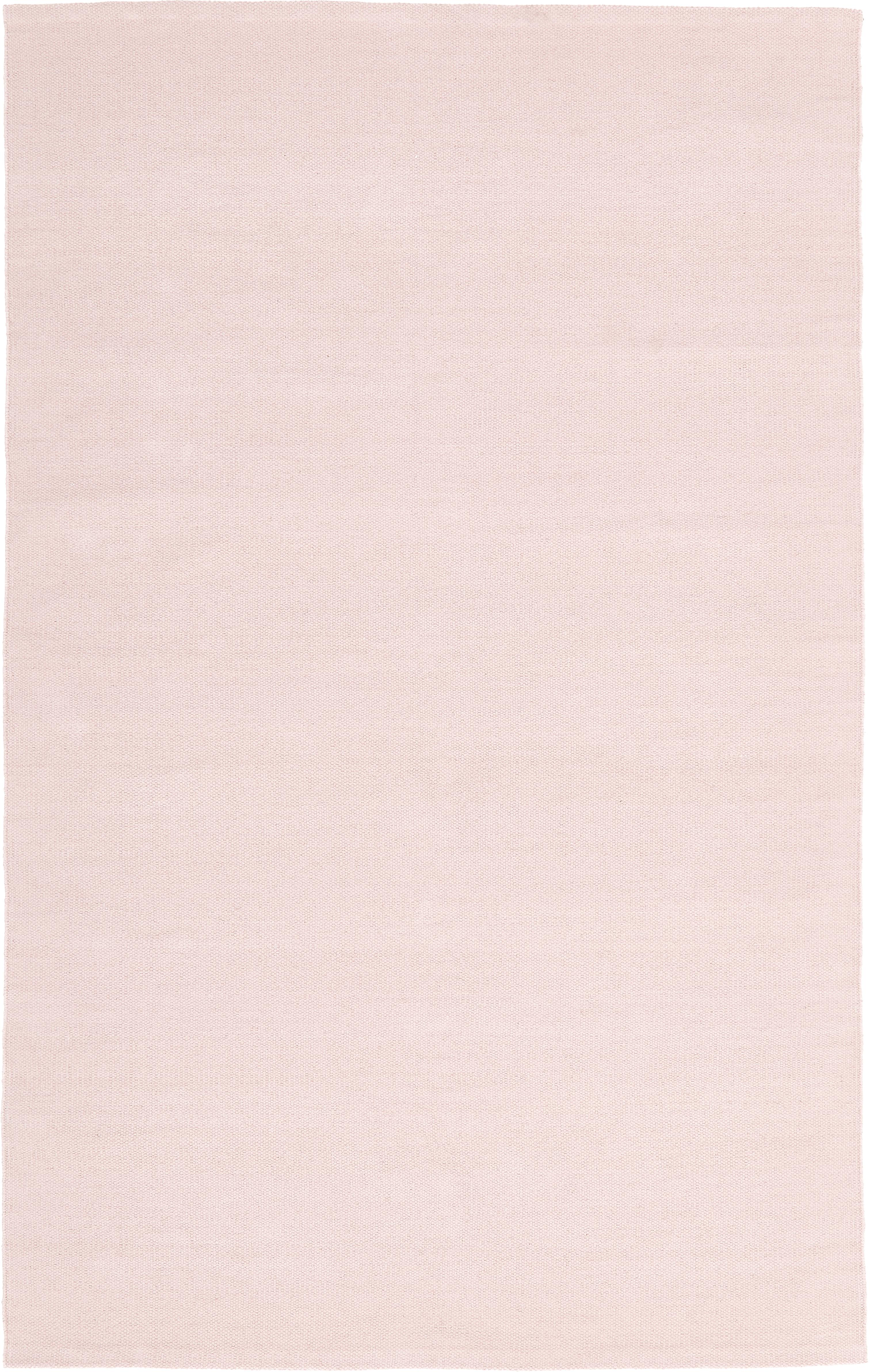 Dünner Baumwollteppich Agneta, handgewebt, 100% Baumwolle, Rosa, B 50 x L 80 cm (Grösse XXS)