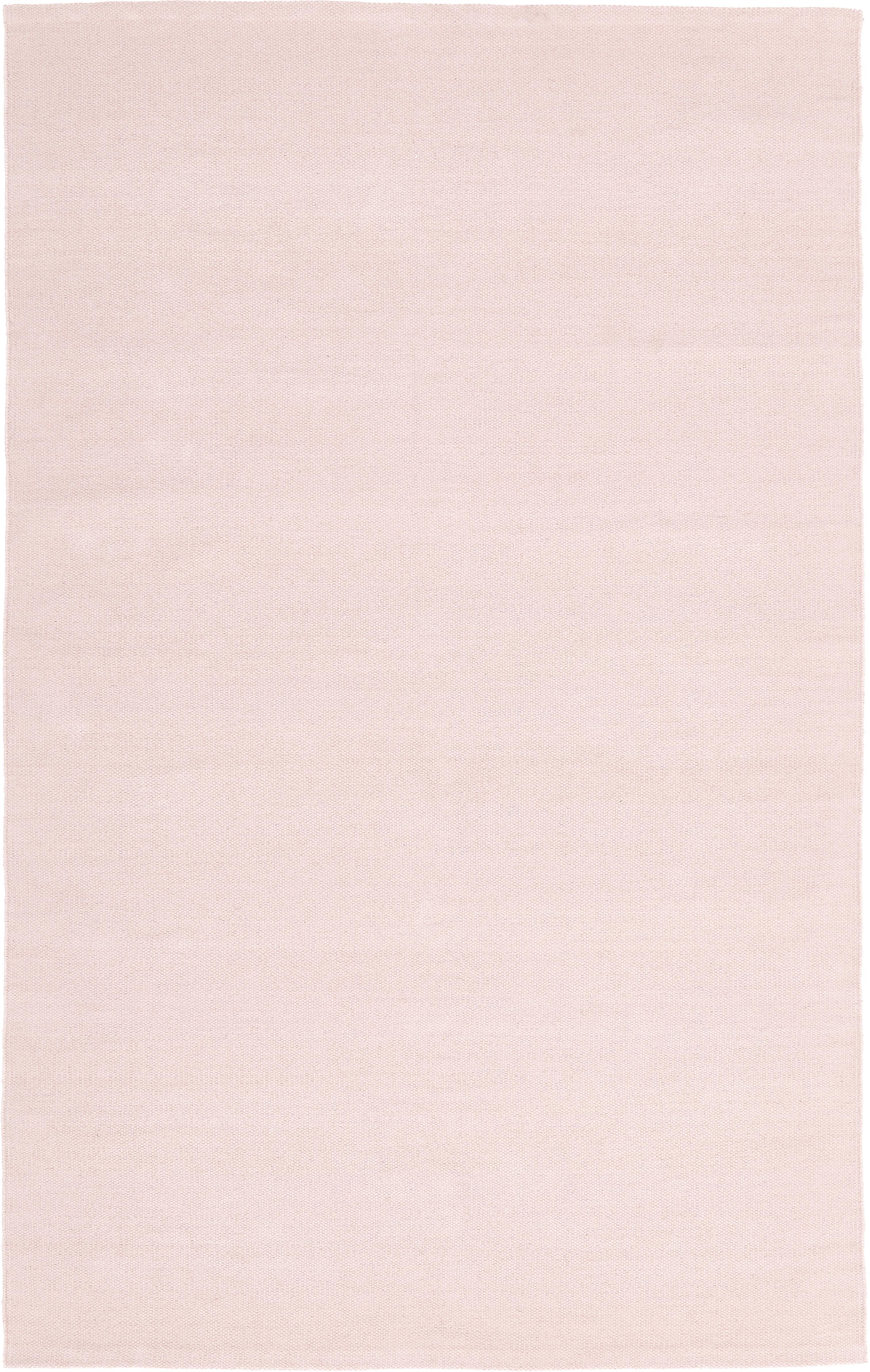 Ręcznie tkany dywan z bawełny Agneta, Bawełna, Blady różowy, S 50 x D 80 cm (Rozmiar XXS)