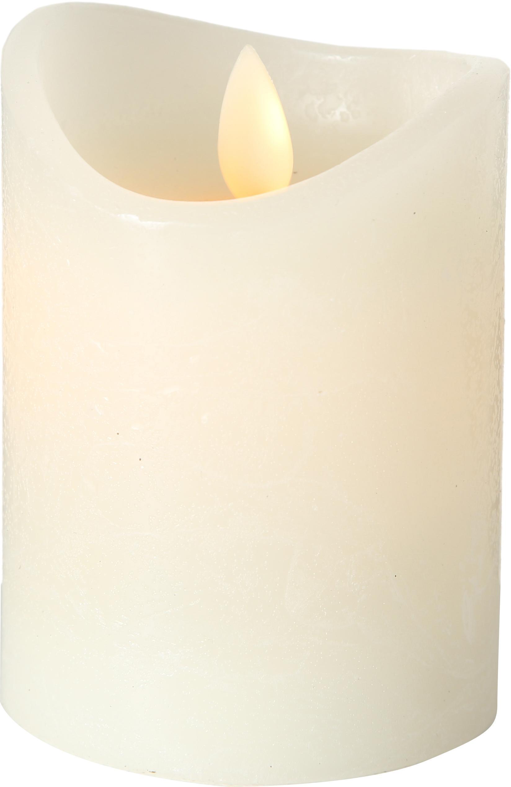 Świeca LED Bino, Odcienie kremowego, Ø 8 x W 10 cm