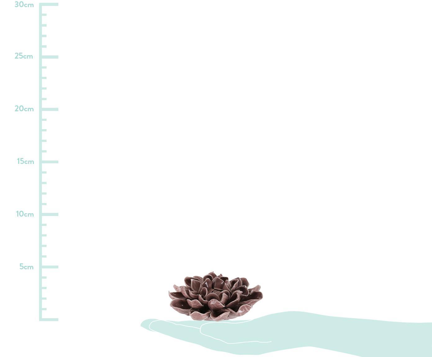 Dekoracja Dolus, Kamionka, Fiołkoworóżowy, Ø 11 x W 4 cm