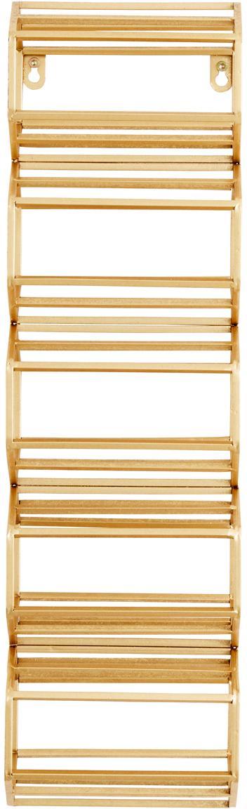 Portabottiglie da parete Iron, Metallo verniciato, Dorato, Larg. 16 x Alt. 51 cm