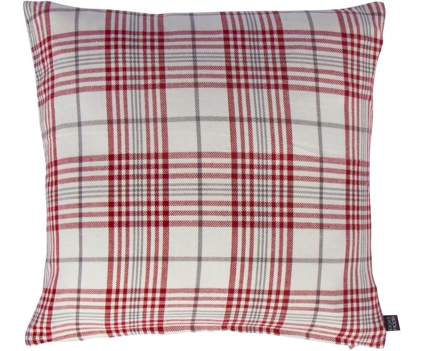 Cuscino con imbottitura Siv, Rivestimento: cotone, Rosso, beige, antracite, Larg. 50 x Lung. 50 cm