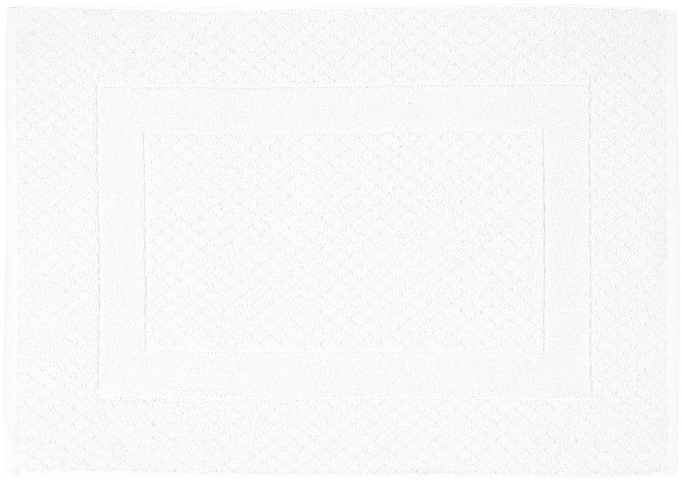 Badvorleger Katharina in Weiß, 100% Baumwolle, schwere Qualität, 900 g/m², Weiß, 50 x 70 cm