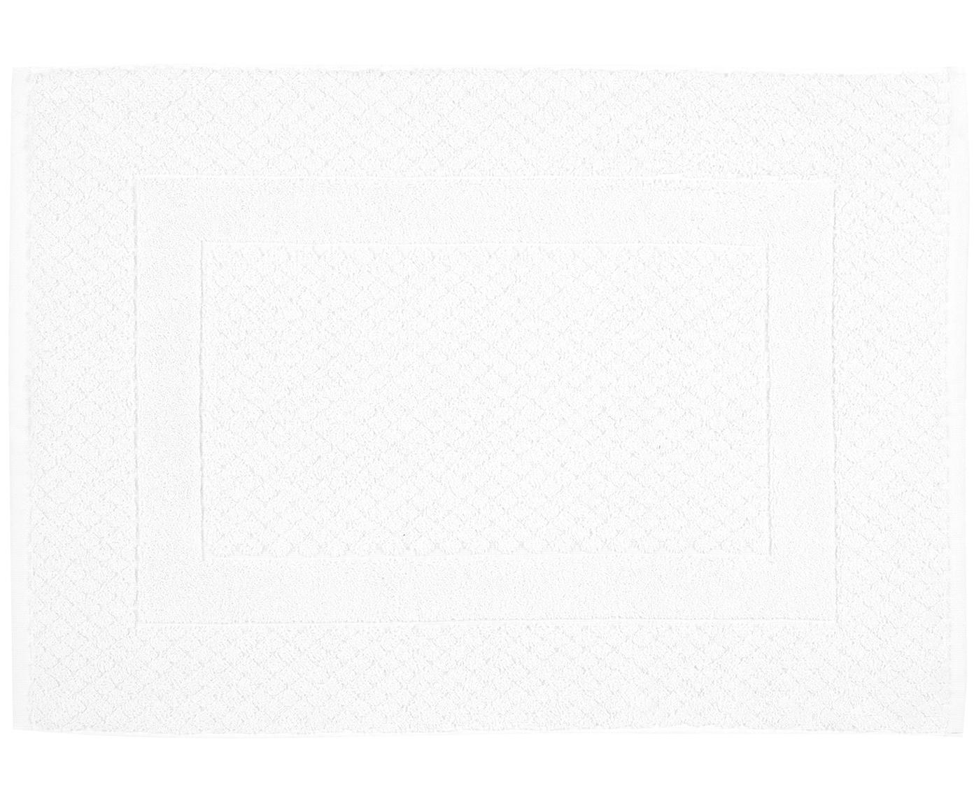 Alfombrilla de baño Katharina, 100%algodón, gramaje superior, 900g/m², Blanco, An 50 x L 70 cm