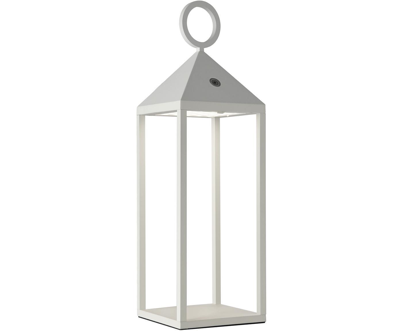 Mobiele outdoor LED lamp Cargo, Gelakt aluminium, Wit, 14 x 47 cm