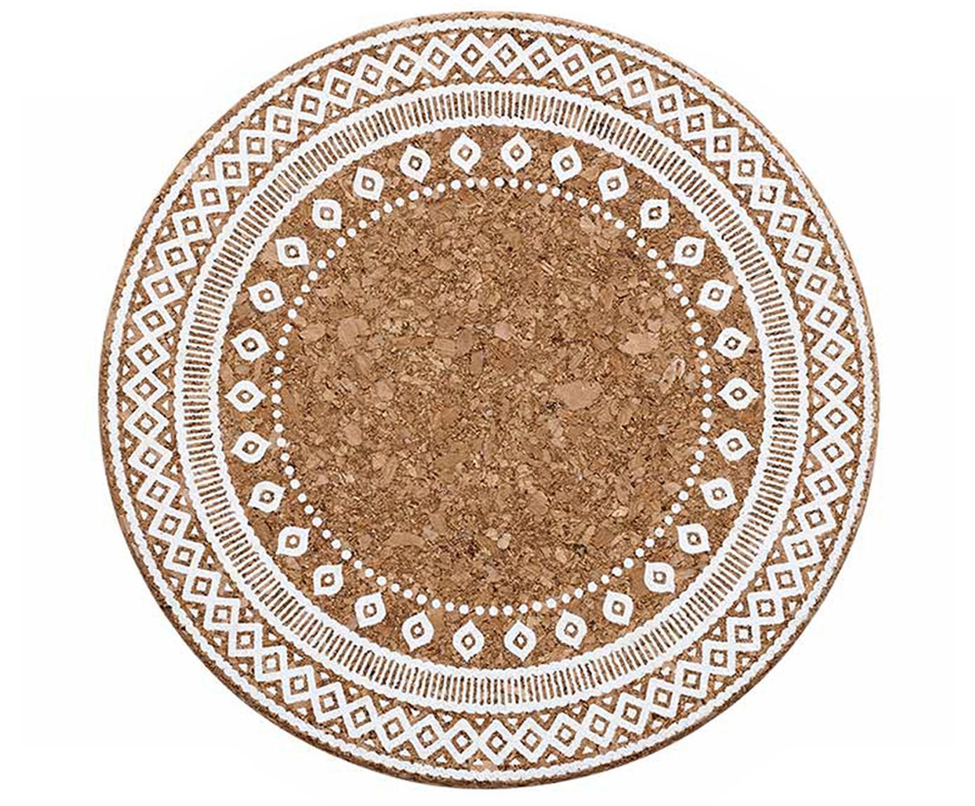 Podkładka pod garnek Oasis, 2 szt., Korek, Biały, korek, Ø 20 x W 2 cm