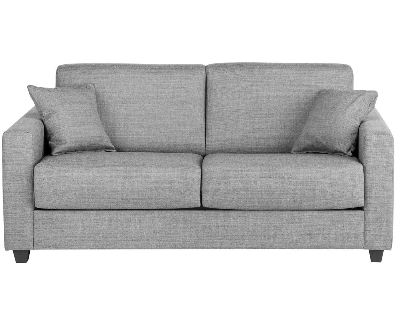 Sofá cama Maria, Tapizado: 40%algodón, 20%lino, 20, Patas: plástico, Estructura: tablero de fibras de dens, Gris claro, An 180 x F 102 cm
