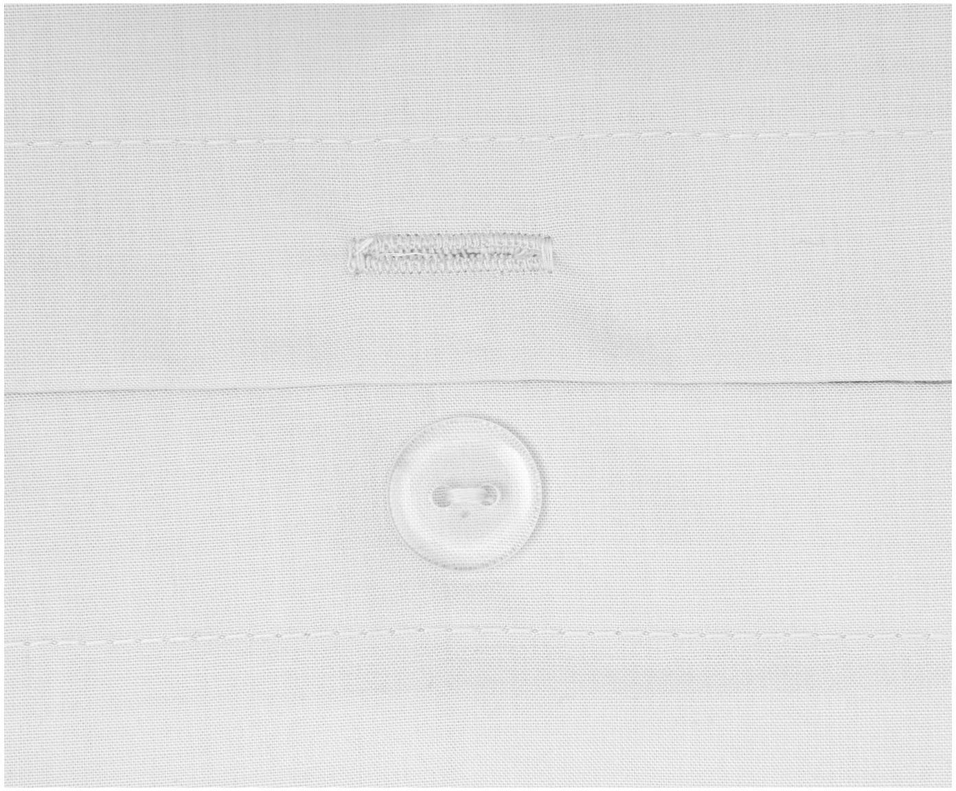 Pościel z perkalu z pomponami Bommy, Jasny szary, 135 x 200 cm