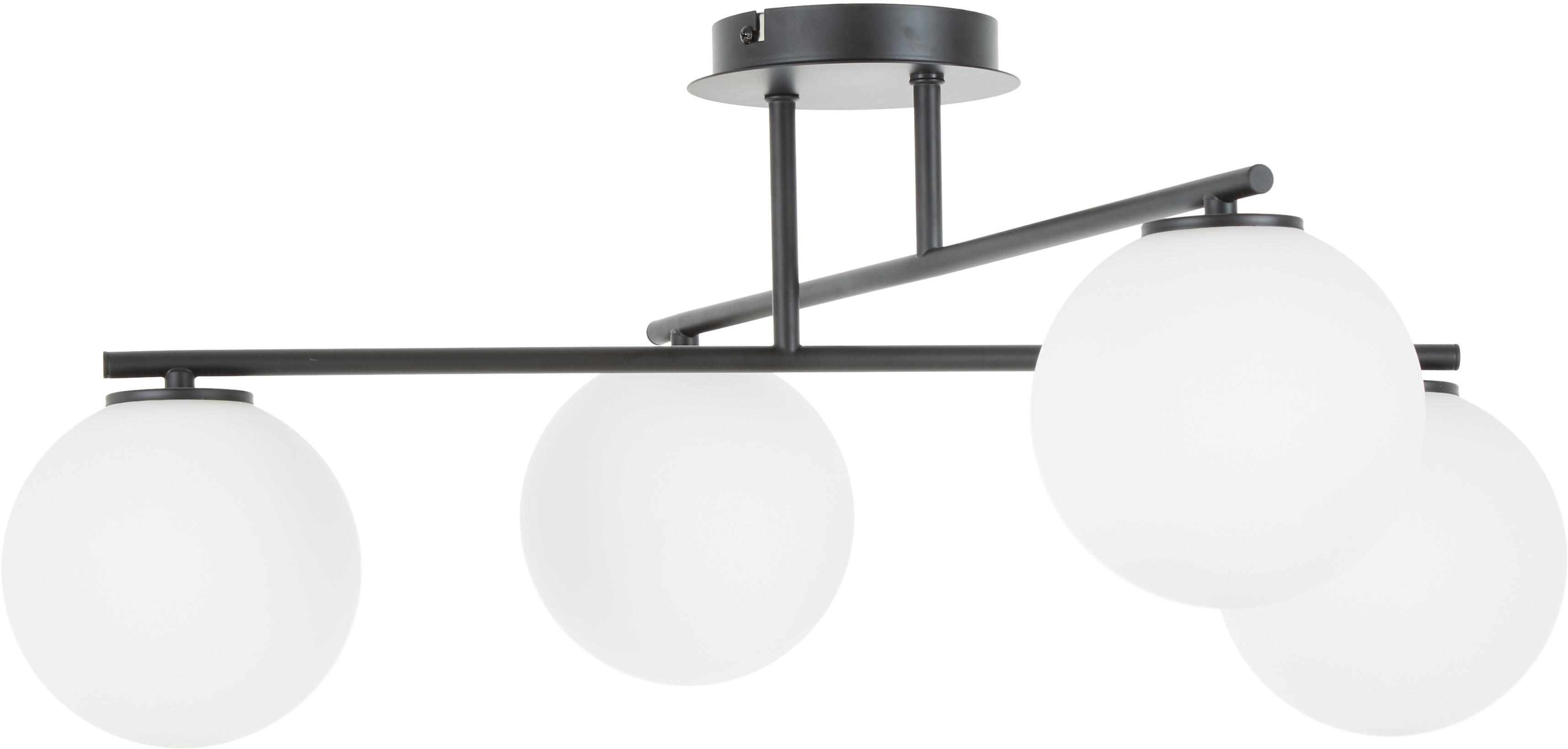 Lámpara de techo Atlanta, ajustable, Anclaje: metal con pintura en polv, Blanco, latón, An 65 x Al 30 cm