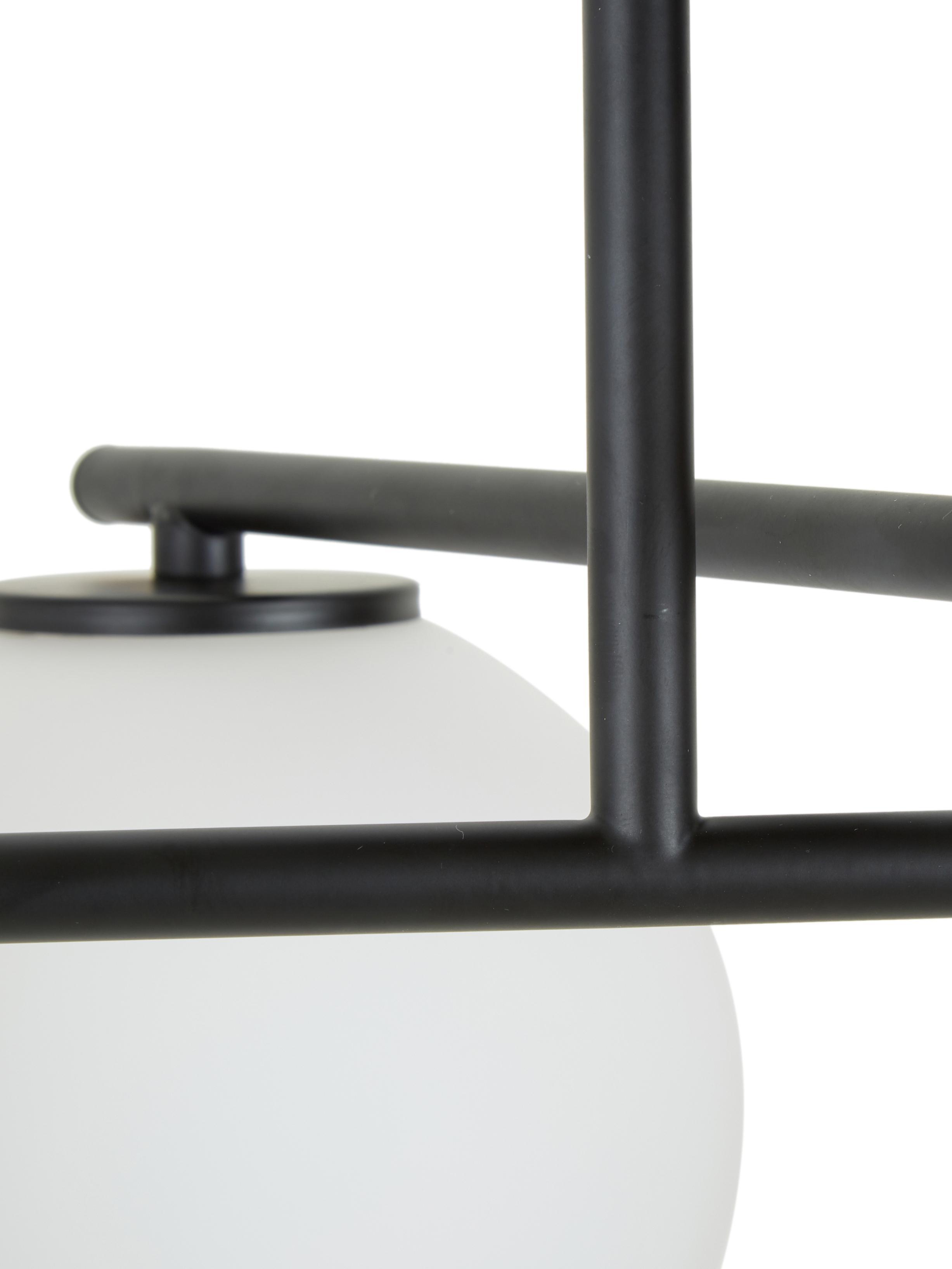 Plafondlamp Atlanta, Baldakijn: gepoedercoat metaal, Zwart, Ø 15 x H 30 cm