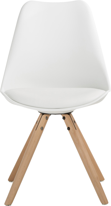 Chaise scandinave cuir synthétique Max, 2pièces, Blanc