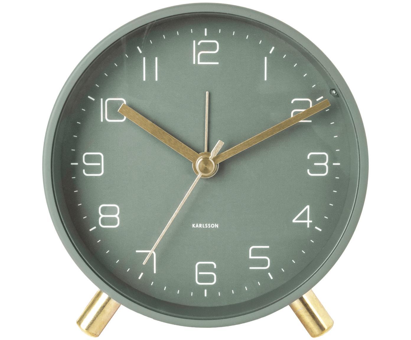 Sveglia Lofty, Metallo verniciato, Verde, Ø 11 x P 5 cm