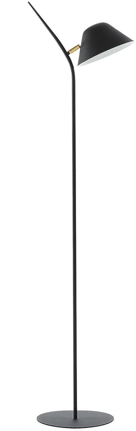 Stehlampe Mysti, Metall, Schwarz, 40 x 152 cm