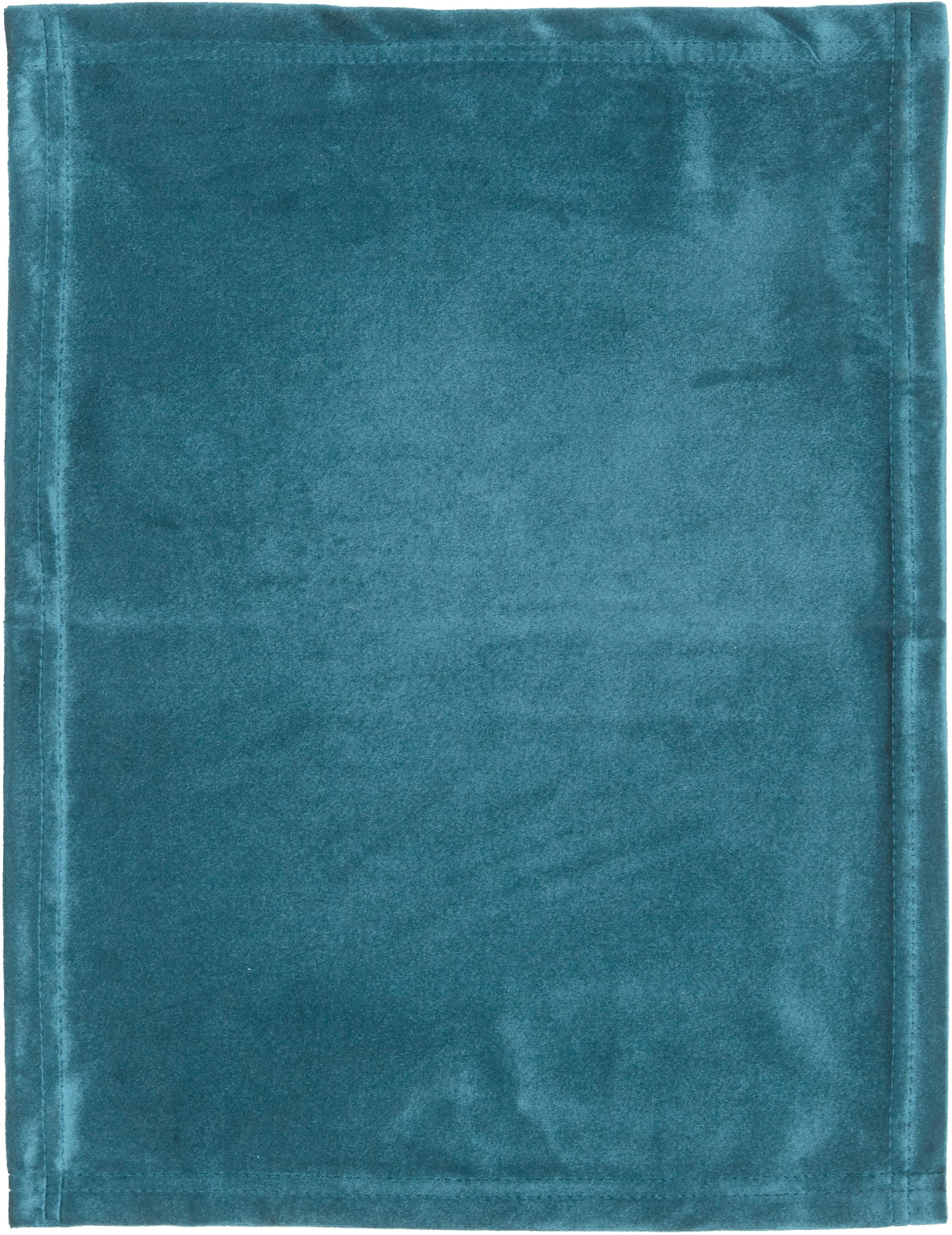 Samt-Tischsets Simone, 2 Stück, 100% Polyestersamt, Jadegrün, 35 x 45 cm