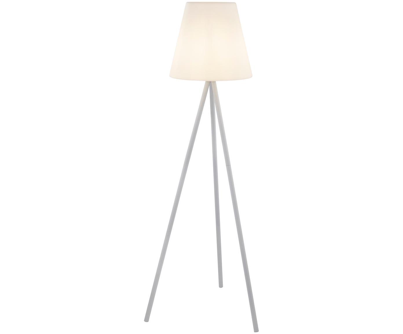 Lámpara para exteriorWells, Pantalla: plástico, Base de la lámpara: aluminio anodizado, Blanco, Ø 35 x Al 134 cm