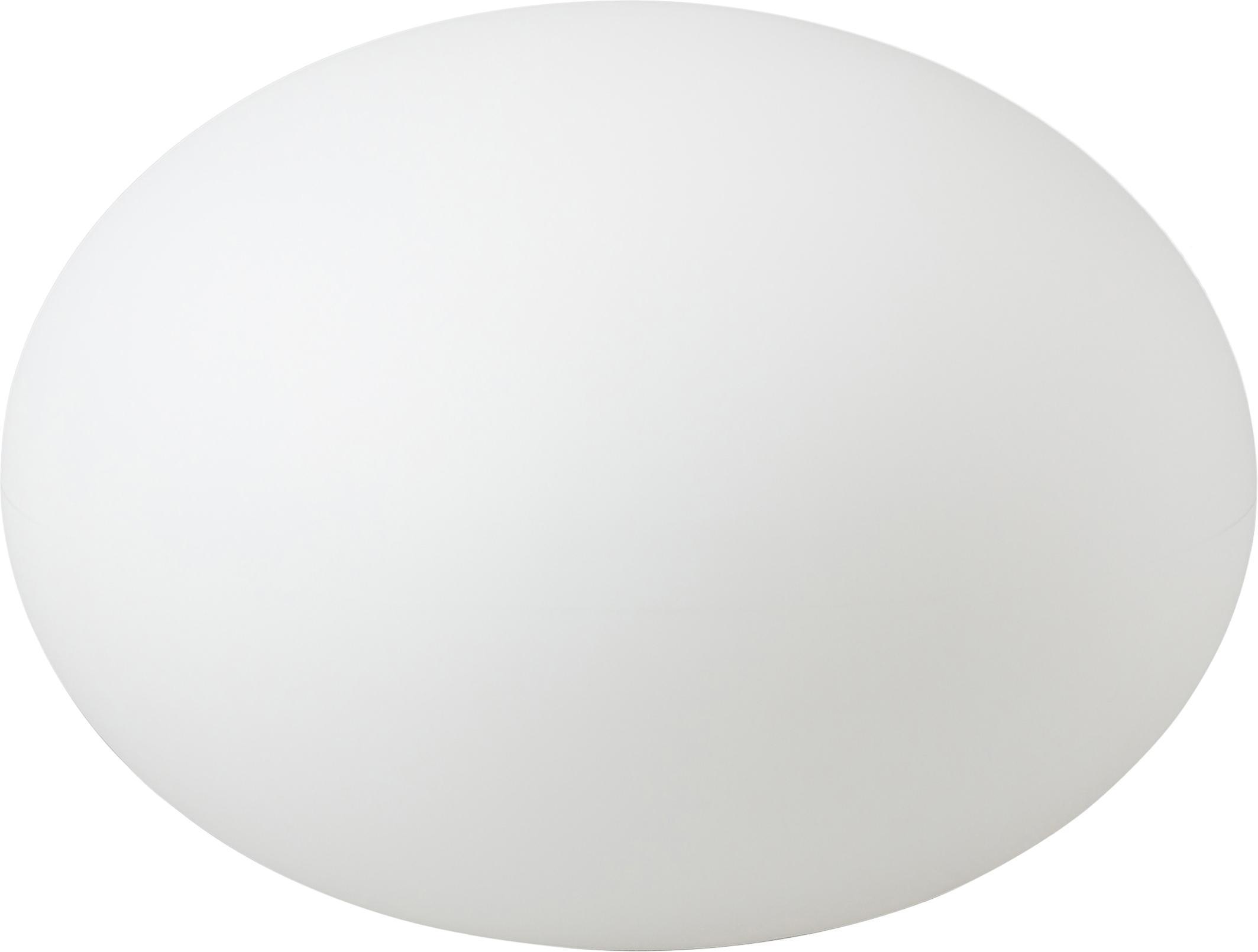 Aussen-Bodenleuchte Apollo mit Stecker, Kunststoff, Weiss, Ø 55 x H 41 cm