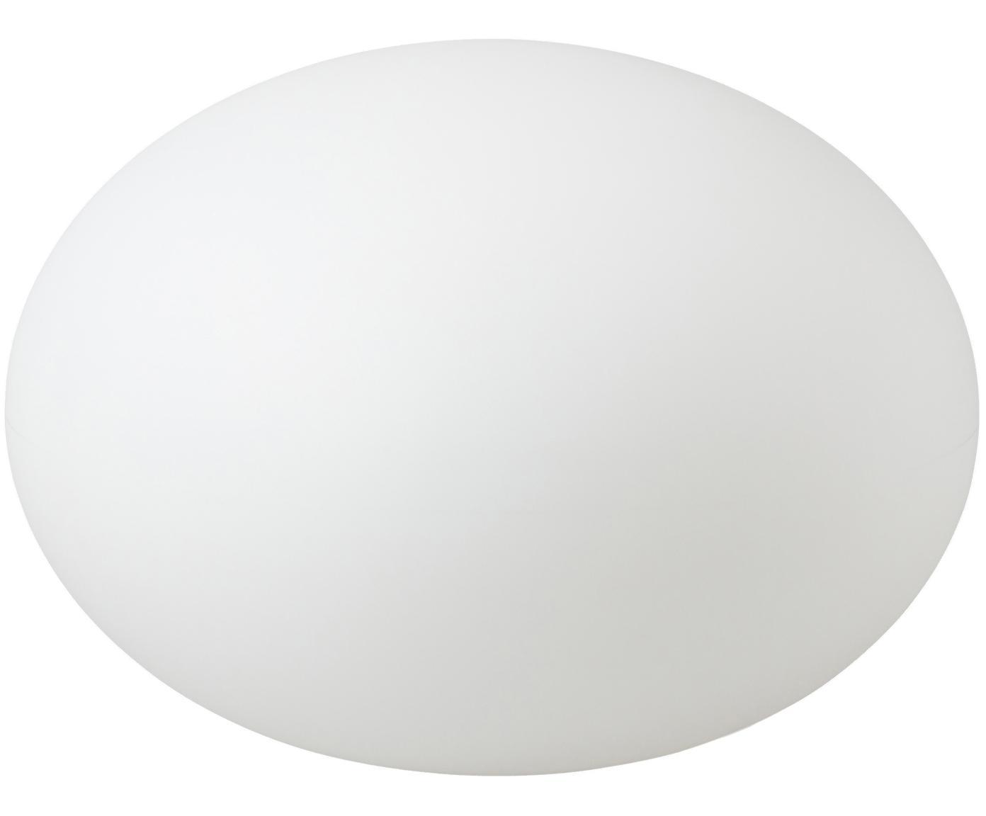 Lámpara de suelo de exterior Apollo, con enchufe, Plástico, Blanco, Ø 55 x Al 41 cm