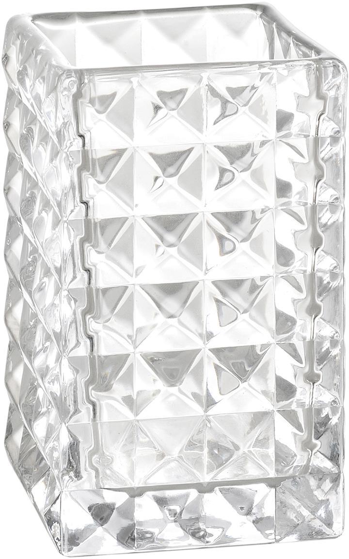 Kubek na szczoteczki Dots, Szkło, Transparentny, S 7 x W 11 cm