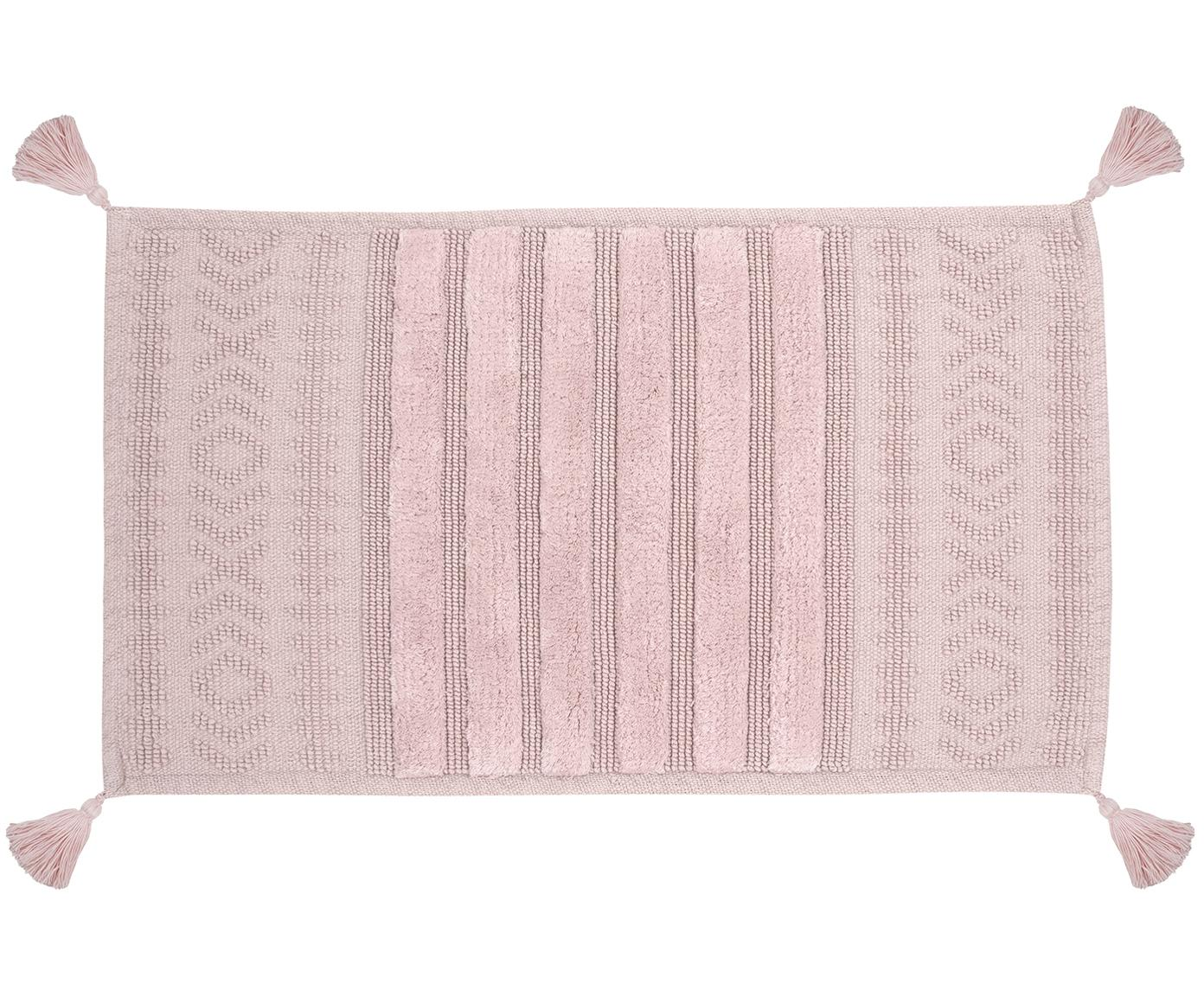 Dywanik łazienkowy z chwostami Bernadotte, Brudny różowy, S 50 x D 80 cm
