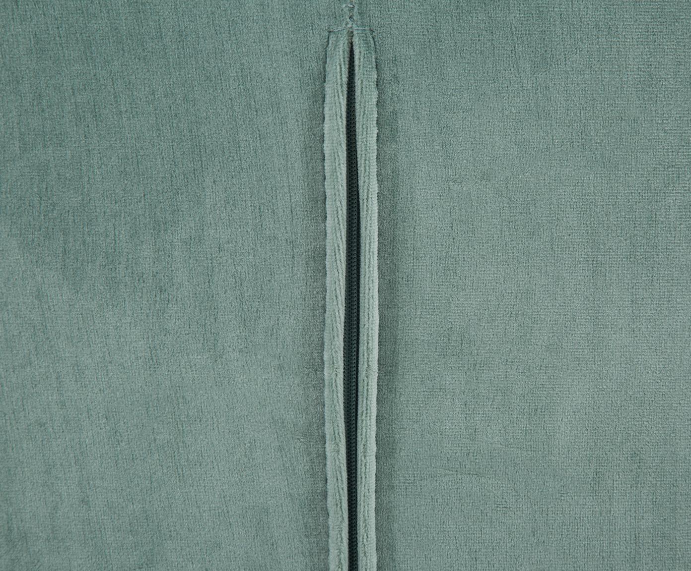 Fotel koktajlowy z aksamitu Olivia, Tapicerka: aksamit (poliester) 5000, Aksamitny szałwiowy zielony, S 70 x G 70 cm