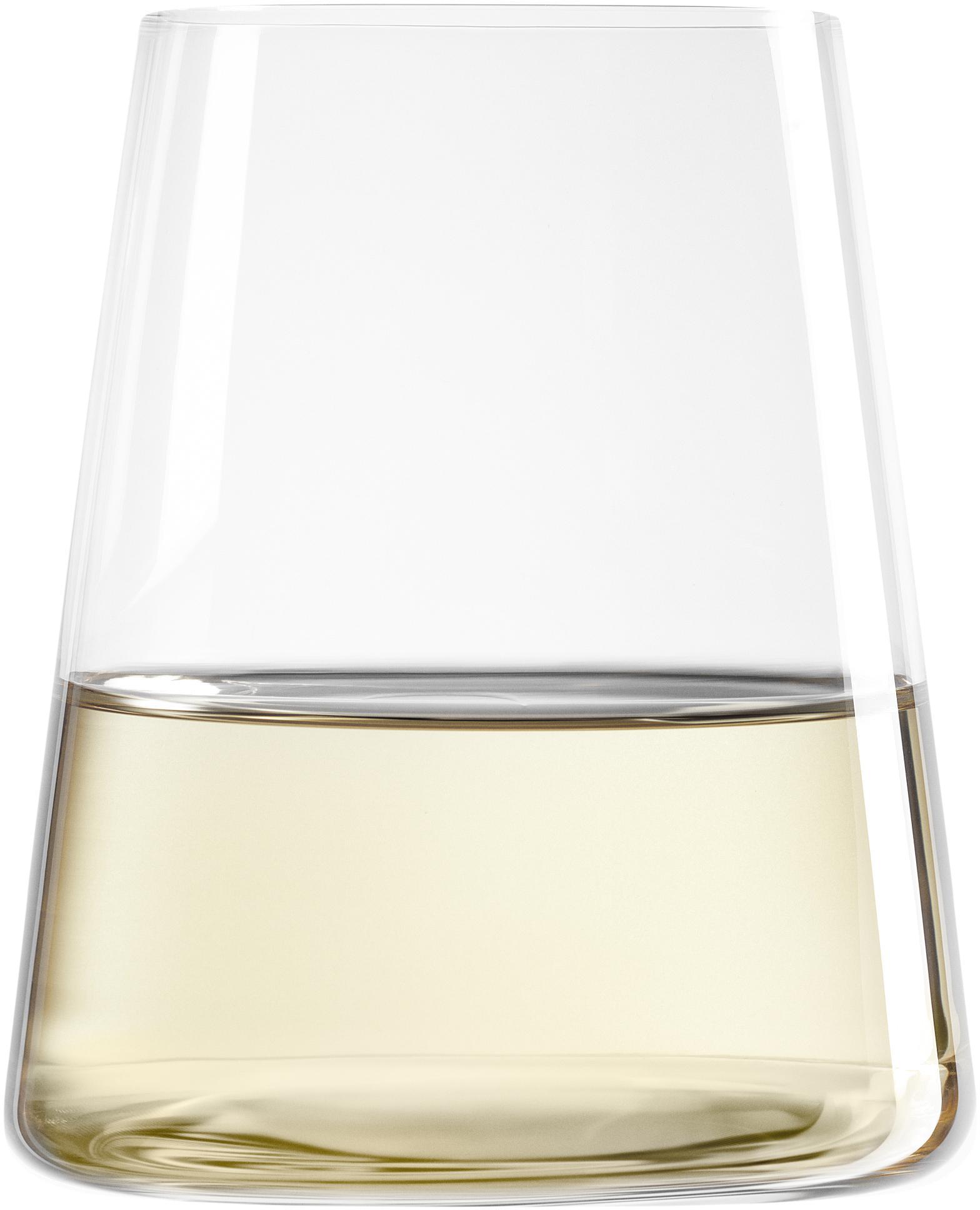 Vasos de cristal Power, 6uds., Cristal, Transparente, Ø 9 x Al 10 cm