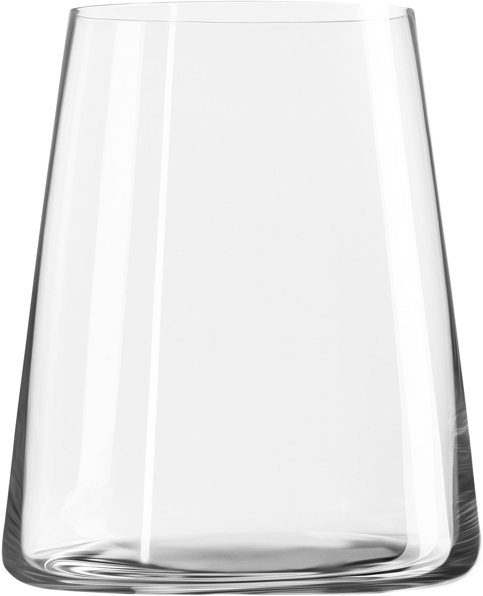 Kristallen glazen Power, 6 stuks, Kristalglas, Transparant, Ø 9 x H 10 cm
