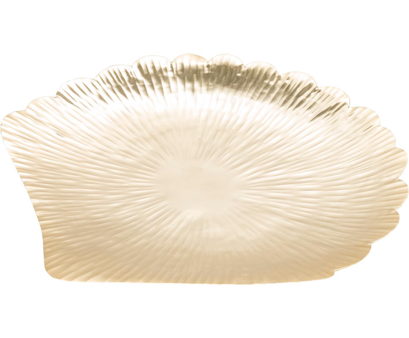 Taca dekoracyjna Helix, Stal nierdzewna, Odcienie złotego, S 44 x G 42 cm
