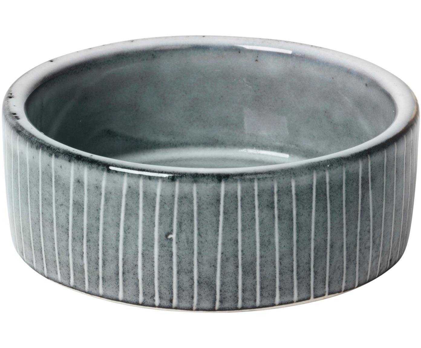 Cuencos artesanales Nordic Sea, 4uds., Gres, Tonos de gris y azul, Ø 8 x Al 3 cm
