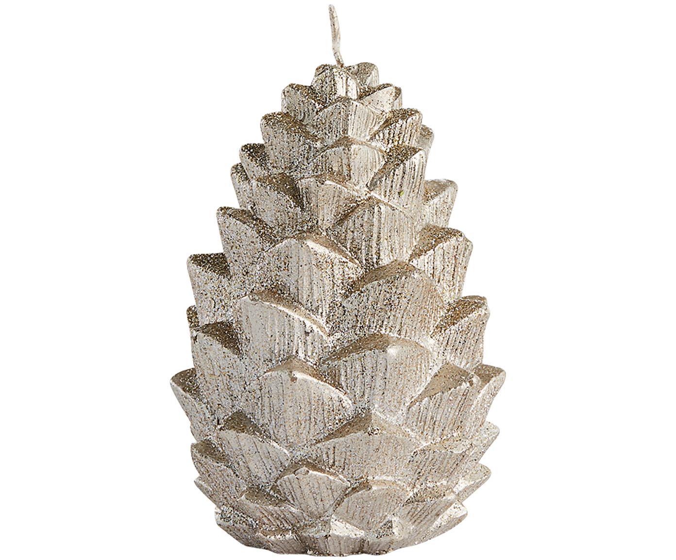 Candela Nordic Pine, Paraffina, Dorato, Ø 7 x Alt. 10 cm