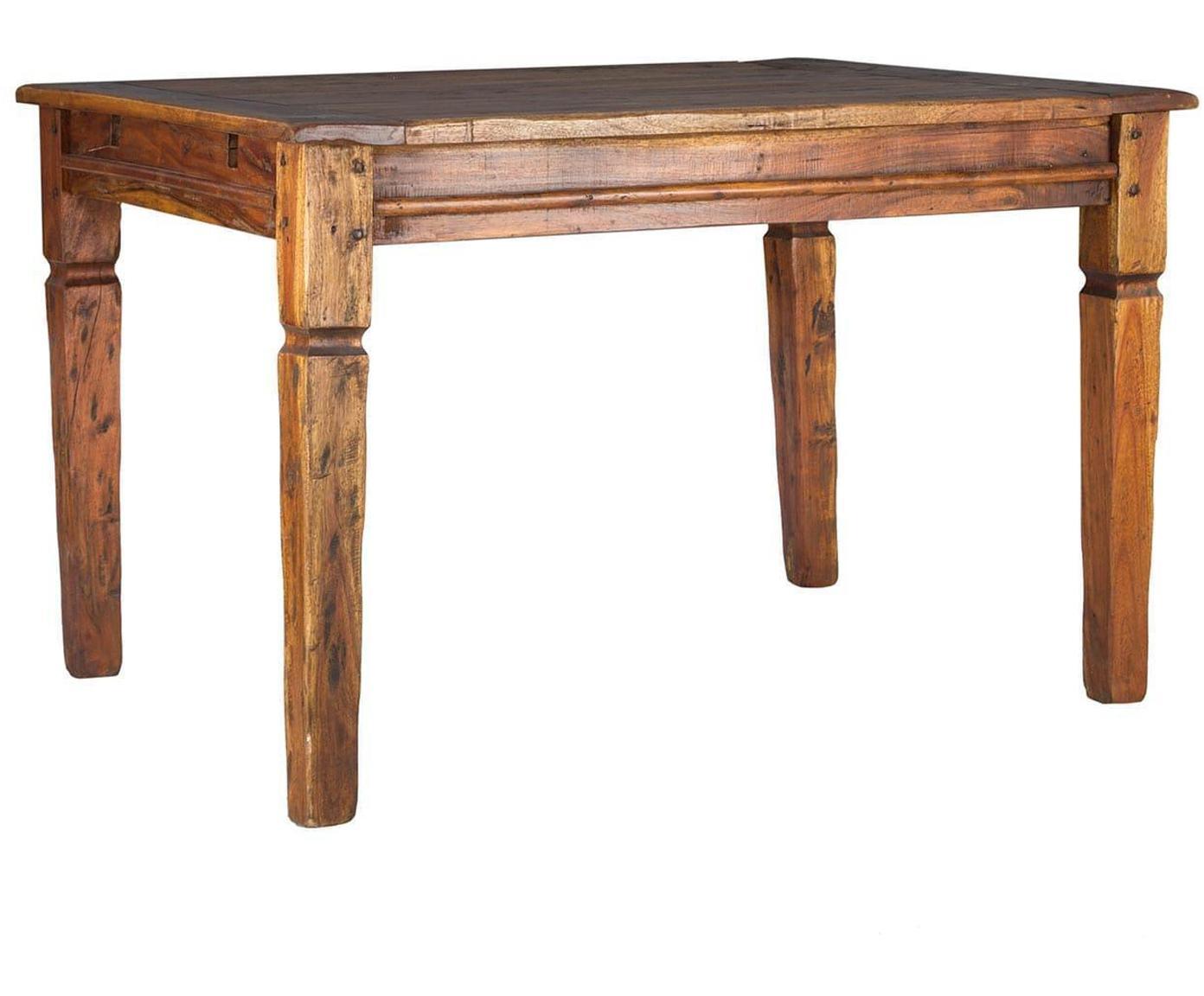 Mesa de comedor extensible Chateaux, Estructura: madera de abedul, Asiento: ratán natural, acabado de, Marrón envejecido, An 200 x F 90 cm