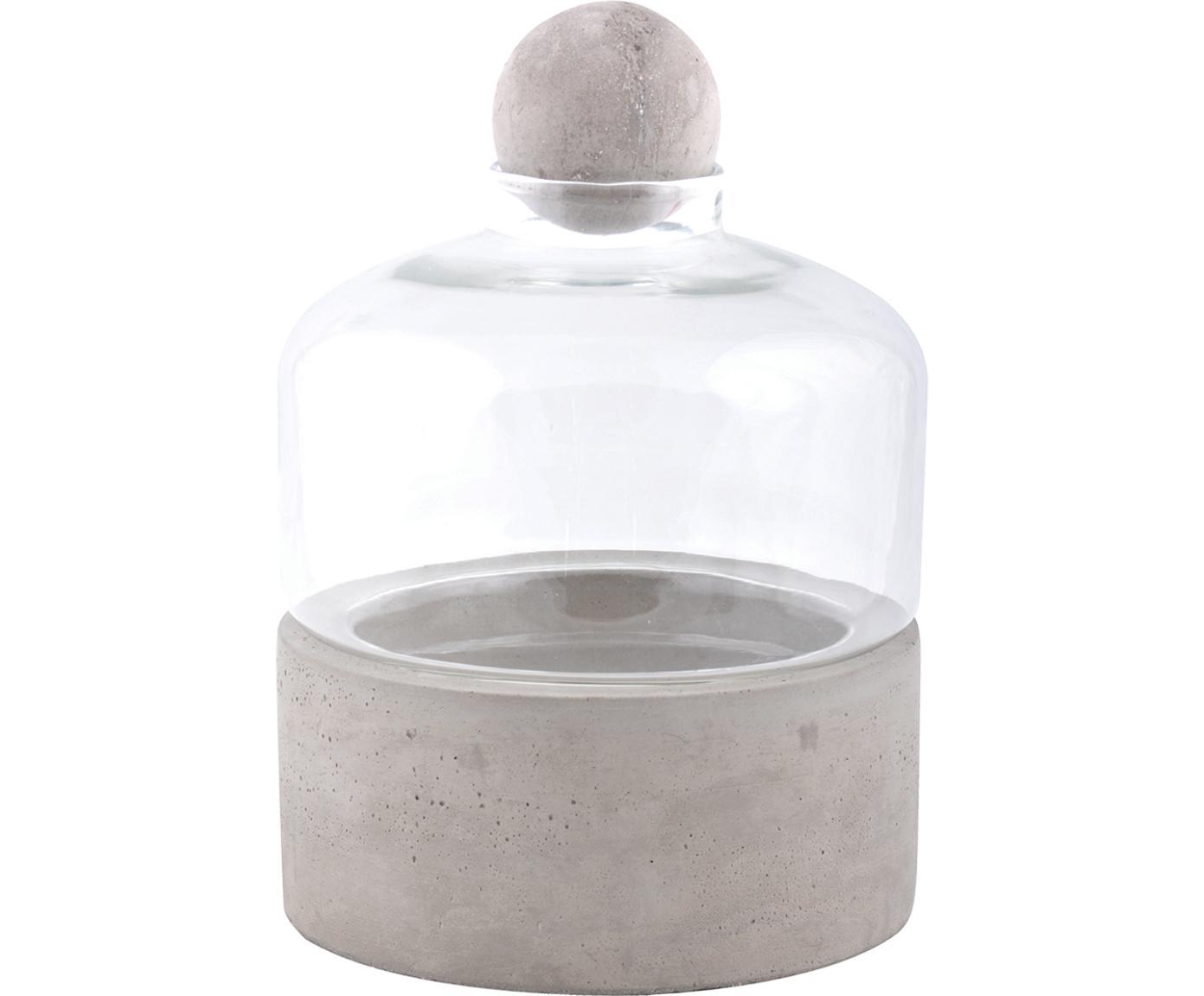 Kweekfles Budi, Beton, glas, Grijs, transparant, Ø 18 x H 24 cm