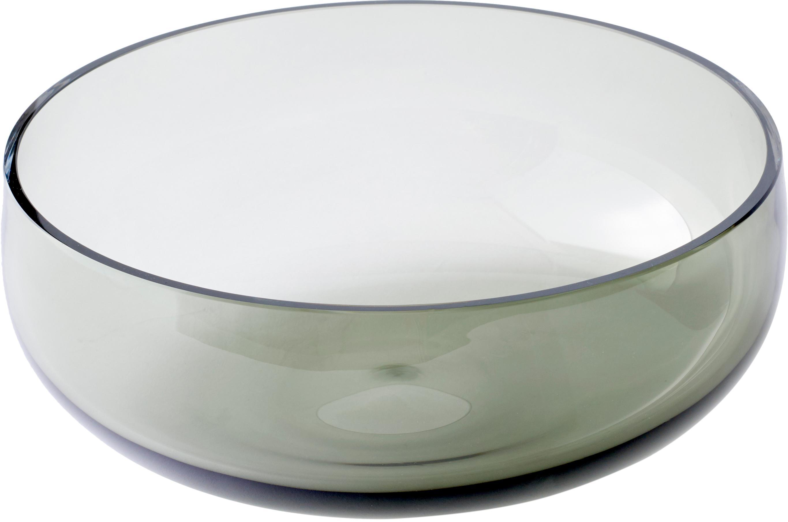 Schaal Échasse, Frame: messing, Frame: messingkleurig. Vaas: grijs, Ø 30 x H 14 cm