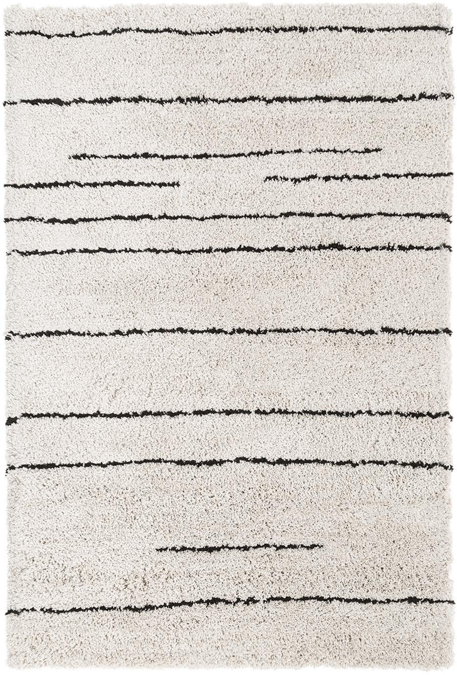 Ręcznie tuftowany dywan Dunya, Beżowy, czarny, S 120 x D 180 cm
