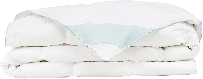 Daunen-Bettdecke Comfort, extra leicht, Hülle: 100% Baumwolle, feine Mak, Weiß, 200 x 200 cm