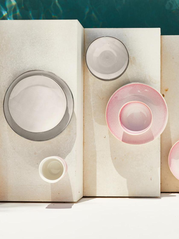 Handgemachte Frühstücksteller Thalia in Beige, 2 Stück, Steingut, Beige, Ø 22 cm