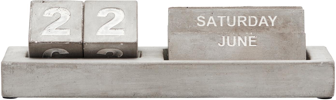 Kalender Eternety, Beton, Grijs, crèmewit, 21 x 6 cm