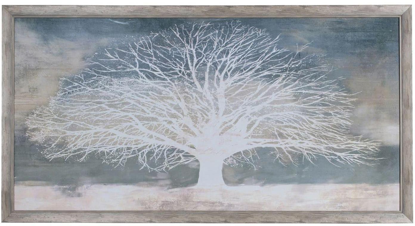 Impresión digital enmarcada sobre papel White Tree, Multicolor, An 144 x Al 77 cm