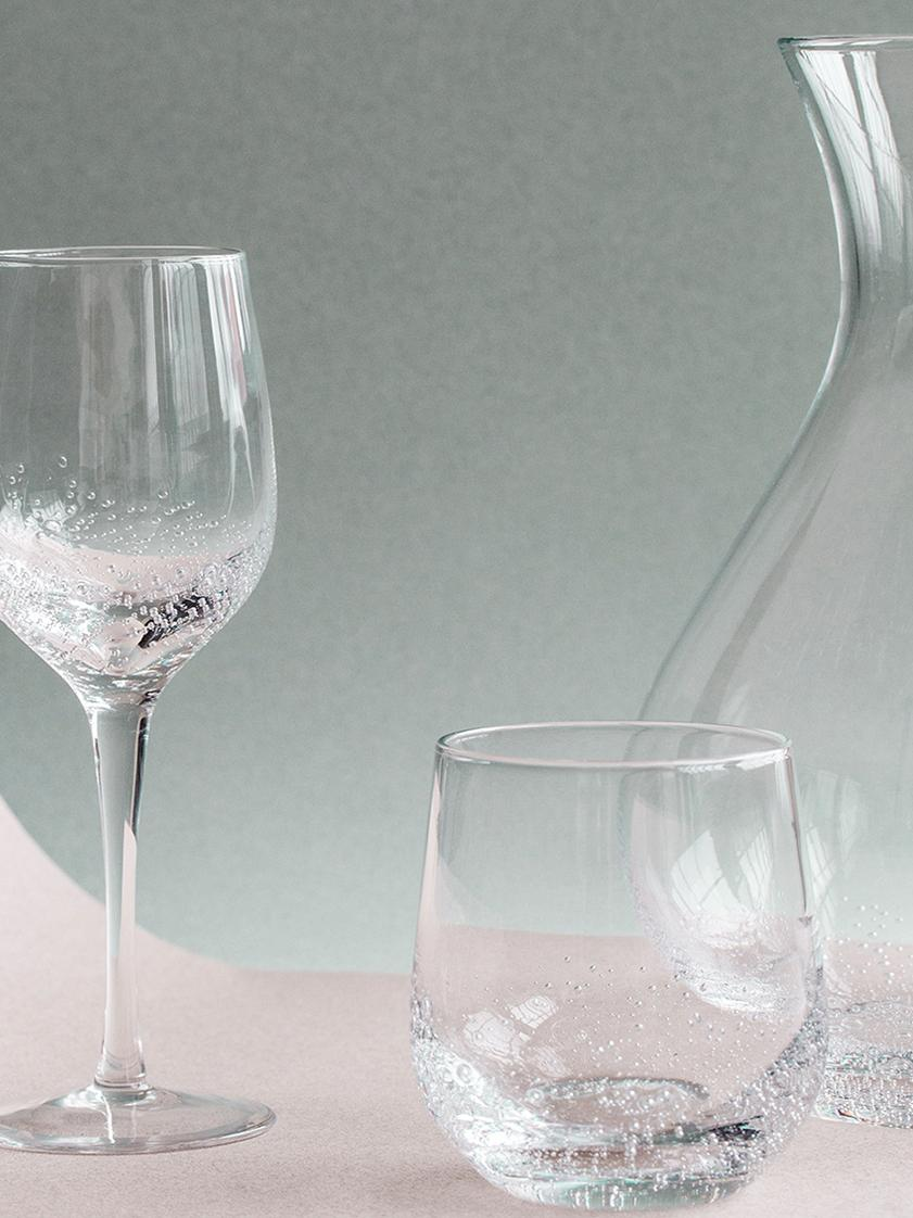 Mundgeblasene Karaffe Bubble mit Lufteinschlüssen, Glas, mundgeblasen, Transparent mit Lufteinschlüssen, 250 ml