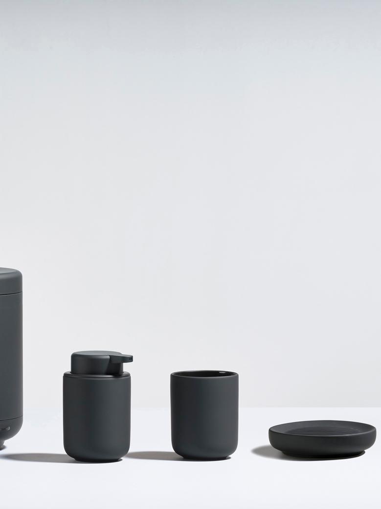 Mydelniczka z porcelany Ume, Porcelana, Czarny, Ø 12 x W 3 cm