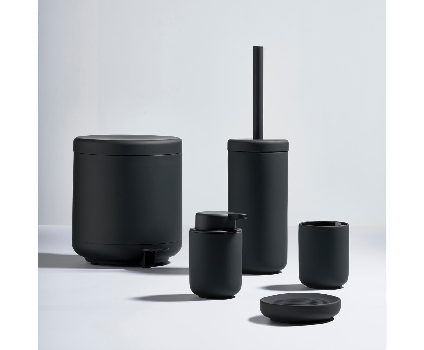 Zeephouder  Ume, Porselein, Zwart, Ø 12 x H 3 cm